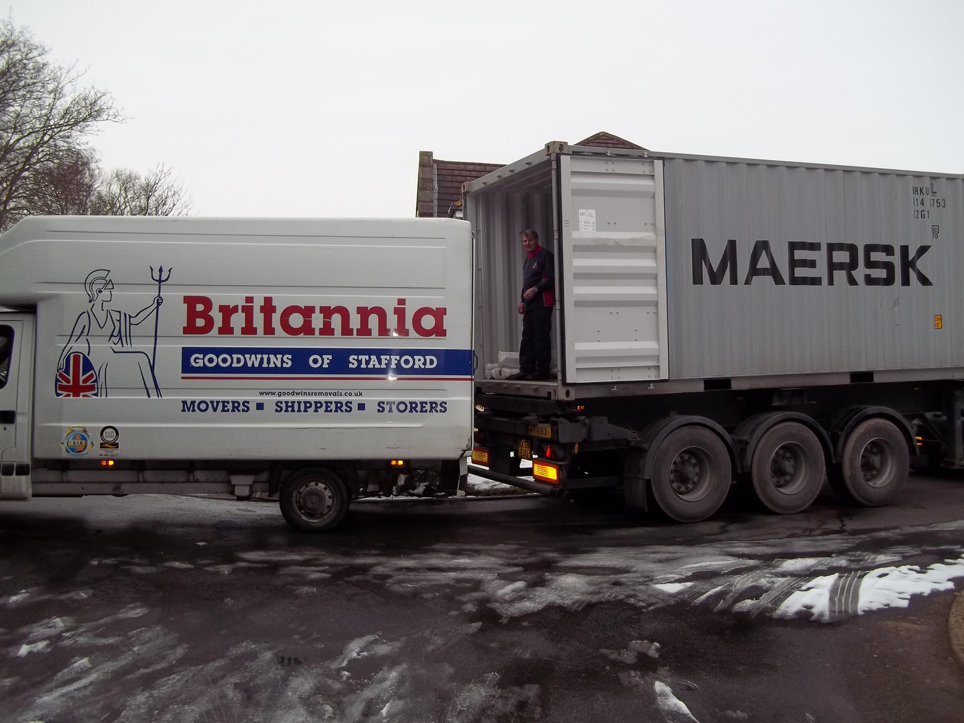 Britannia Goodwins Removals & Storage Stafford Deep Sea Shipping Containers